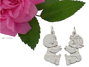 Baby charms- Adorable chubby babies for mom or grandma.