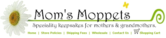 Mom's Moppets Logo- Specialty mothers pendants.