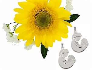 Mother and baby pendants- baby girl or baby boy design.